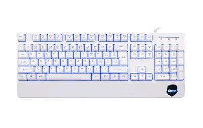 C-TECH KB- 104W USB podsvietená biela klávesnica SK/CZ