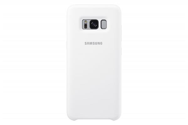 Samsung Zadný silikónový kryt pre Samsung S8+, Biely
