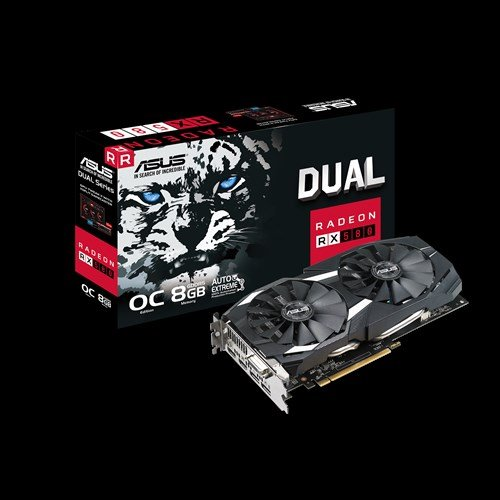 ASUS DUAL-RX580-O8G 8GB/256-bit, GDDR5, DVI, 2xHDMI, 2xDP