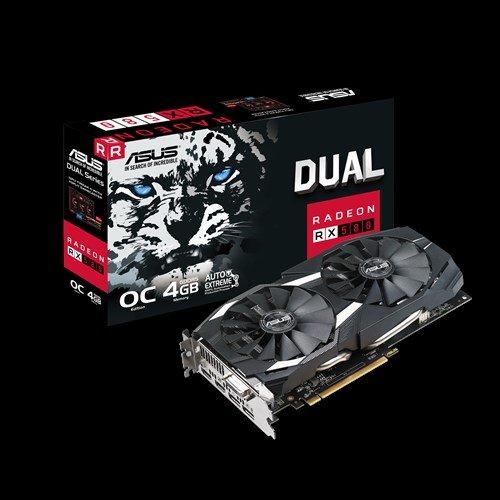 ASUS DUAL-RX580-O4G 4GB/256-bit, GDDR5, DVI, 2xHDMI, 2xDP