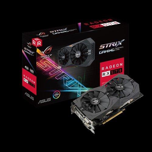 ASUS ROG-STRIX-RX570-4G-GAMING 4GB/256-bit, GDDR5, 2xDVI, HDMI, DP