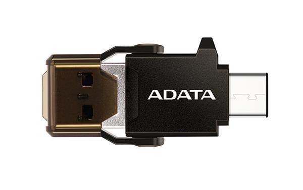 A-DATA USB-C OTG Reader, čierna