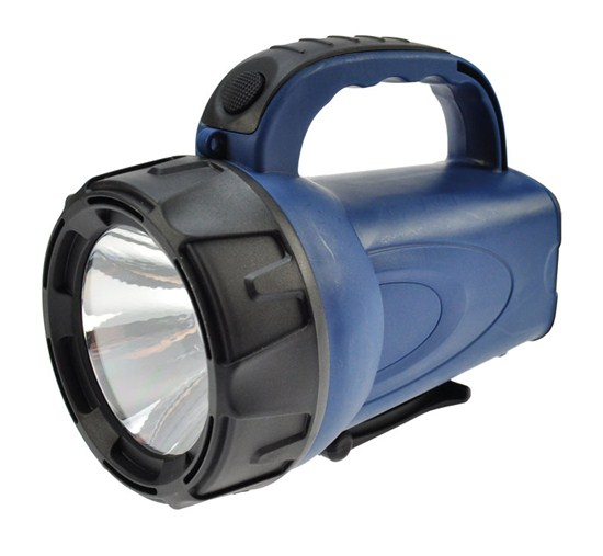 Solight nabíjacie LED svietidlo, 3W LED, Li-Ion, čiernomodrá