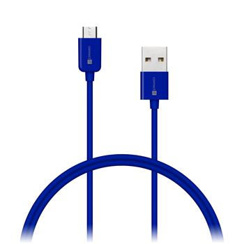 CONNECT IT Wirez COLORZ kábel micro USB - USB, 1m, modrý
