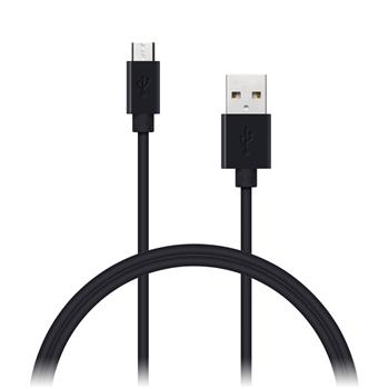CONNECT IT Wirez kábel USB - micro USB, 1m, čierny