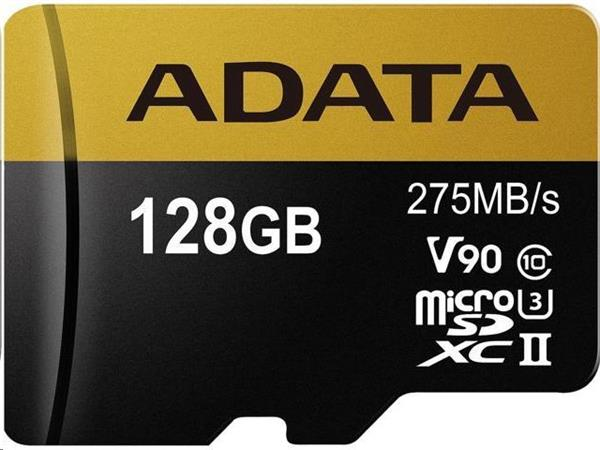 128 GB . microSDHC/SDXC UHS-II U3 karta ADATA class 10 Ultra High Speed + adaptér