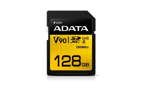 128 GB . SDXC/SDHC Premier ONE UHS-II karta ADATA class 10 Ultra High Speed