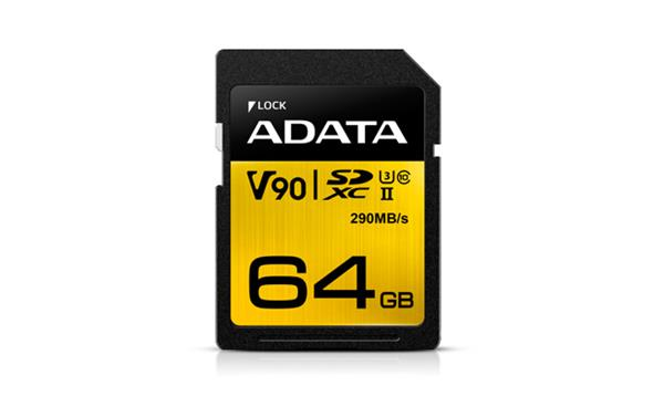 64 GB . SDXC/SDHC Premier ONE UHS-II karta ADATA class 10 Ultra High Speed