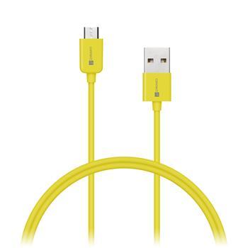 CONNECT IT Wirez COLORZ kábel micro USB - USB, 1m, žltý