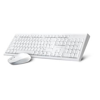 CONNECT IT Combo set bezdrôtová biela klávesnica + myš, CZ+SK layout