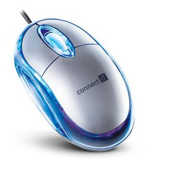 CONNECT IT myš optická podsvietená USB strieborná