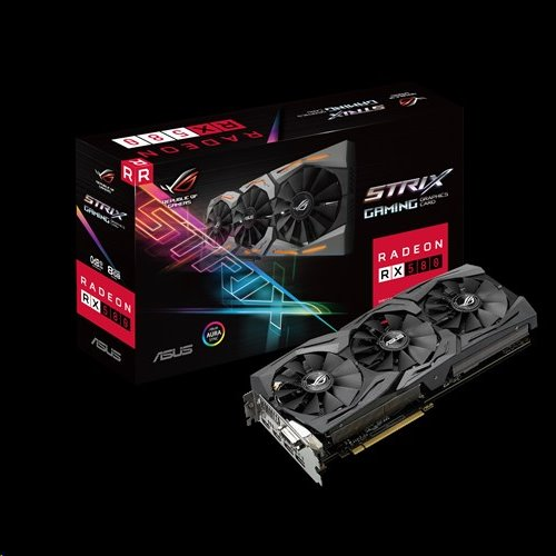 ASUS ROG-STRIX-RX580-8G-GAMING 8GB/256-bit, GDDR5, DVI, 2xHDMI, DP