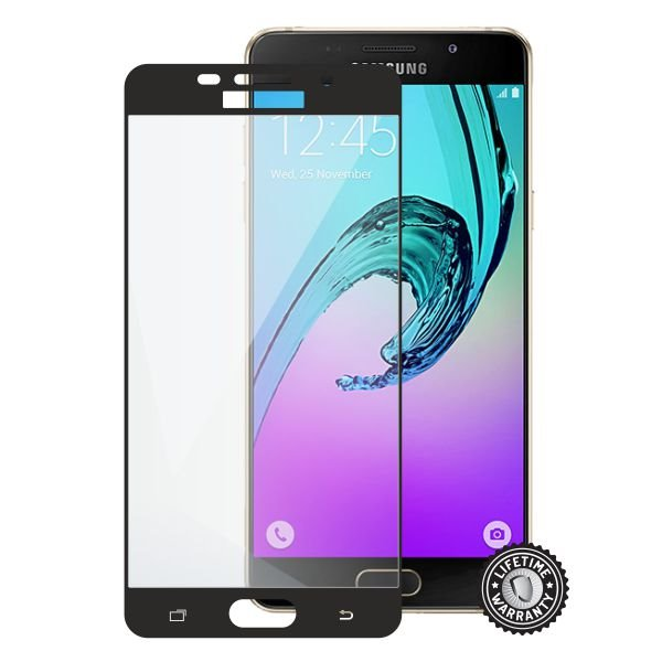 Screenshield SAMSUNG A510 Galaxy A5 (2016) Tempered Glass protection (full COVER BLACK metalic frame) - Film for display