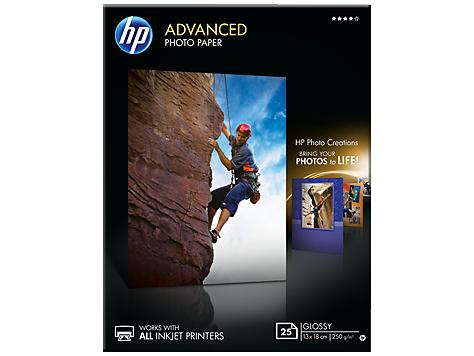 HP Zdokonalený lesklý fotografický papier HP Advanced Glossy Photo Paper -25 listov/13 x 18 cm, bez okrajov