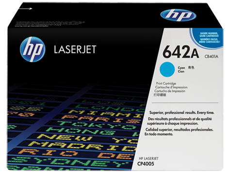 HP Toner Cartridge Cyan for CLJ CP4005, up to 7,500 pages