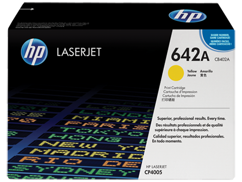 HP Toner Cartridge Yellow for CLJ CP4005, up to 7,500 pages