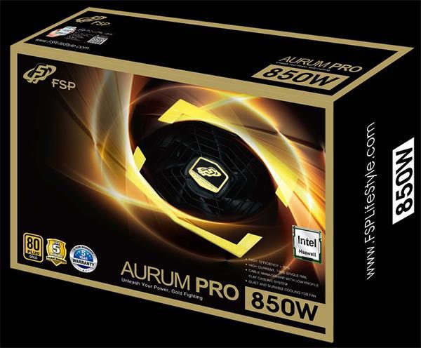 Fortron FSP zdroj AURUM PRO 850W, 80PLUS GOLD
