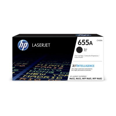 HP 655A Black Original LaserJet Toner Cartridge (CF450A)