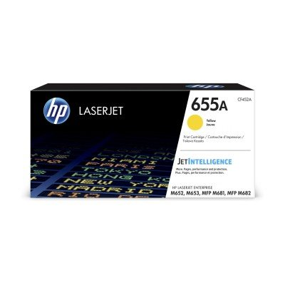 HP 655A Yellow Original LaserJet Toner Cartridge (CF452A)