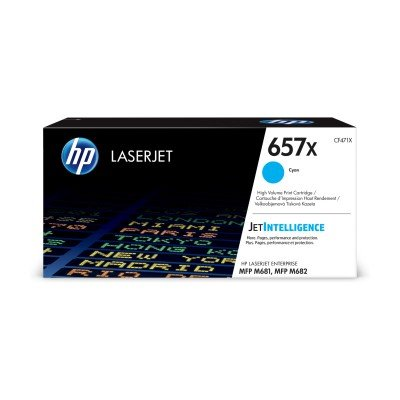 HP 657X High Yield Cyan Original LaserJet Toner Cartridge (CF471X)