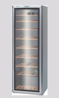 BOSCH_185 cm, objem skladovacieho priestoru 360l, 266 kWh/365 dní, B, Seria 4, sklo/strieborná