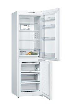 BOSCH_Chladnička/mraznička 186 cm, chlad. 215l, mraz. 87l, 235 kWh/365 dní, LED-displej, NoFrost, A++, biela