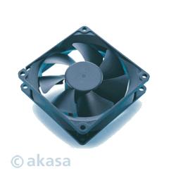 AKASA LED Case FUN - 12cm vetrák, čierny