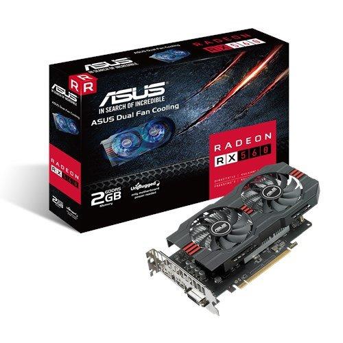 ASUS RX560-2G 2GB/128-bit GDDR5, HDMI, DP, DVI