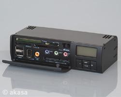 AKASA AK-ALL-01BK All In One funkčný panel, čierny