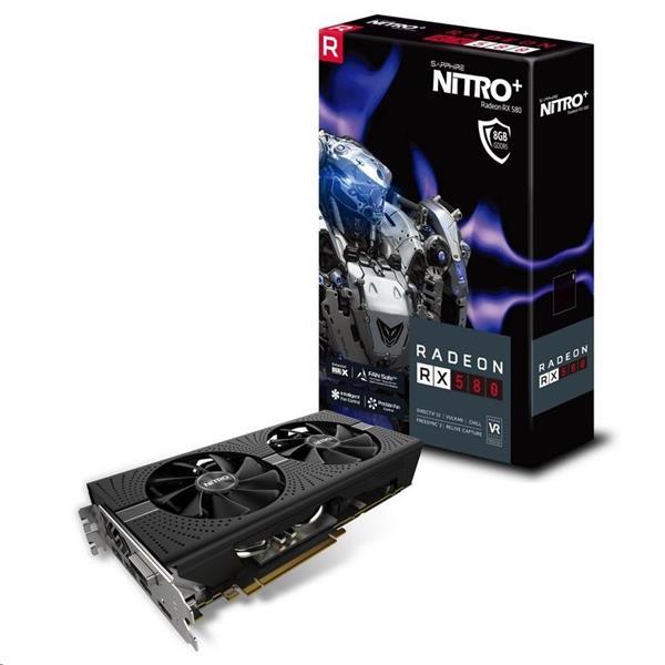 Sapphire NITRO+ Radeon RX 580 8GB/256-bit GDDR5 DUAL HDMI/ DVI-D/ DUAL DP OC W/BP