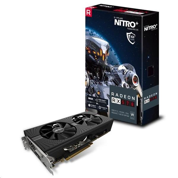 Sapphire NITRO+ Radeon RX 570 8GB/256-bit GDDR5 DUAL HDMI/ DVI-D/ DUAL DP OC W/BP