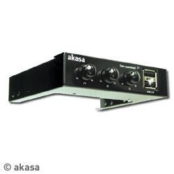AKASA Fan Control + - multifunkčný panel, čierny