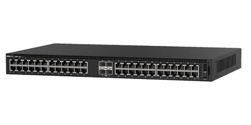 Dell EMC Switch N1148T, L2, 48 ports RJ45 1GbE, 4 ports SFP+ 10GbE, Stacking
