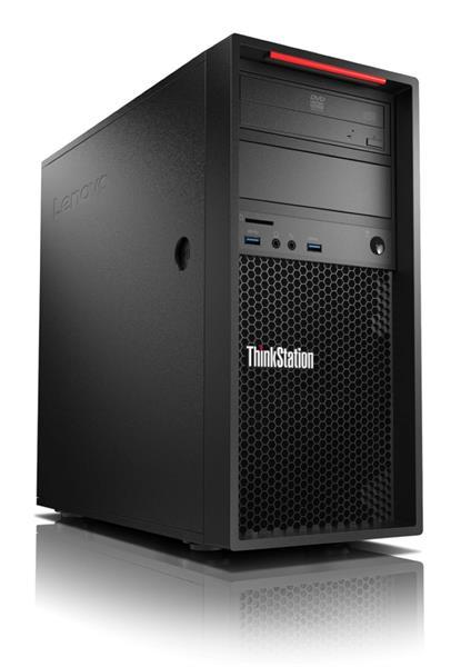 Lenovo TS P320 TWR E3-1225v6 3.3GHz UMA 8GB 1TB DVD W10Pro cierny 3y OS