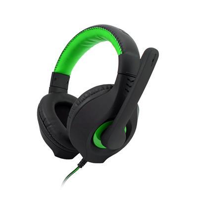 C-TECH hráčske slúchadla s mikrofónom Nemesis V2 (GHS-14G) Čierno-zelené
