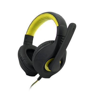 C-TECH hráčske slúchadla s mikrofónom Nemesis V2 (GHS-14Y) Čierno-žlté