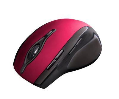C-Tech myš WLM-11 čierno-červená, bezdrôtová, programovateľná.USB. Nano receiver. Wireless