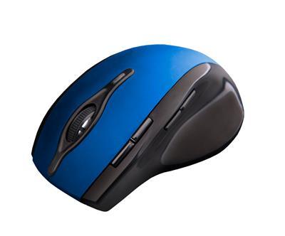 C-Tech myš WLM-11 čierno-modrá, bezdrôtová, programovateľná.USB. Nano receiver. Wireless