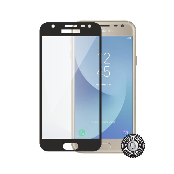 Screenshield SAMSUNG J330 Galaxy J3 (2017) Tempered Glass protection (black) - Film for display protection