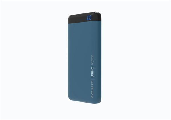 Cygnett ChargeUp Pro Polymer Digital Powerbank 10.000mAh, USB-C 15W vstup, Qualcomm 3.0, dual USB 18W výstup, modrá