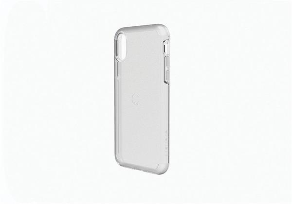 Cygnett StealthShield Crystal obal pre iPhone X s vysokou odolnosťou vojenskej triedy, space grey, priehľadný