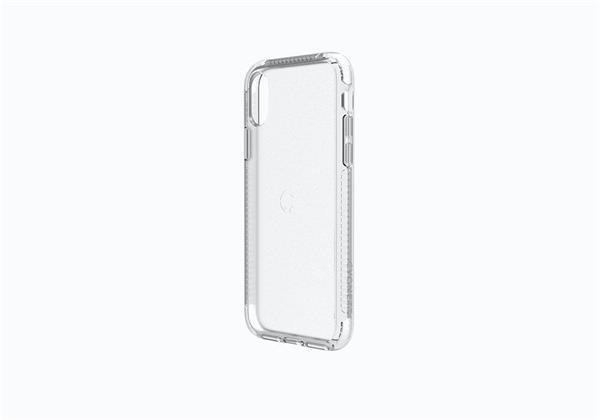 Cygnett Orbit Crystal obal pre iPhone X z 3 materiálov, priehľadný