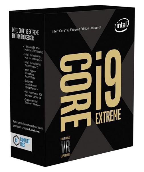 Intel® Core™i9-7980XE processor, 2.60GHz,24.75MB,LGA2066 BOX, bez chladiča