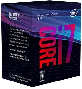 Intel® Core™i7-8700 processor, 3,20GHz,12MB,LGA1151 BOX, HD Graphics 630