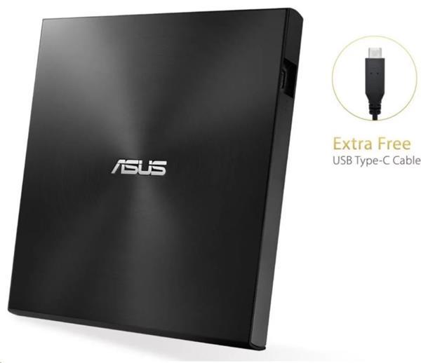 ASUS ZenDrive External Slim DVD-RW SDRW-08U9M-U M-DISC USB-A/C Retail, čierna