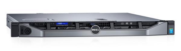 Dell PE R230/Chassis4x3.5HotPlug/Xeon E3-1220v6/8GB/120GBSSD/ReadyRails/Bezel/DVDRW/On-BoardLOM/H330/iDRAC8Exp/3Y Basic
