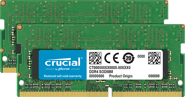 32GB Kit (16GBx2) DDR4 2133 MT/s (PC4-17000) CL15 DR x8 Crucial Unbuffered SODIMM 260pin