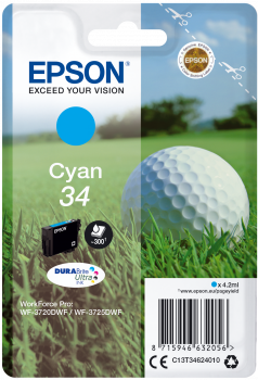 Epson atrament WF-3720 cyan 4.2ml - 300str.