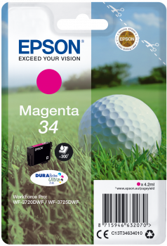 Epson atrament WF-3720 magenta 4.2ml - 300str.