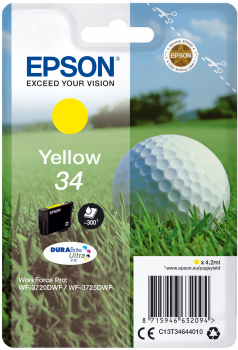 Epson atrament WF-3720 yellow 4.2ml - 300str.